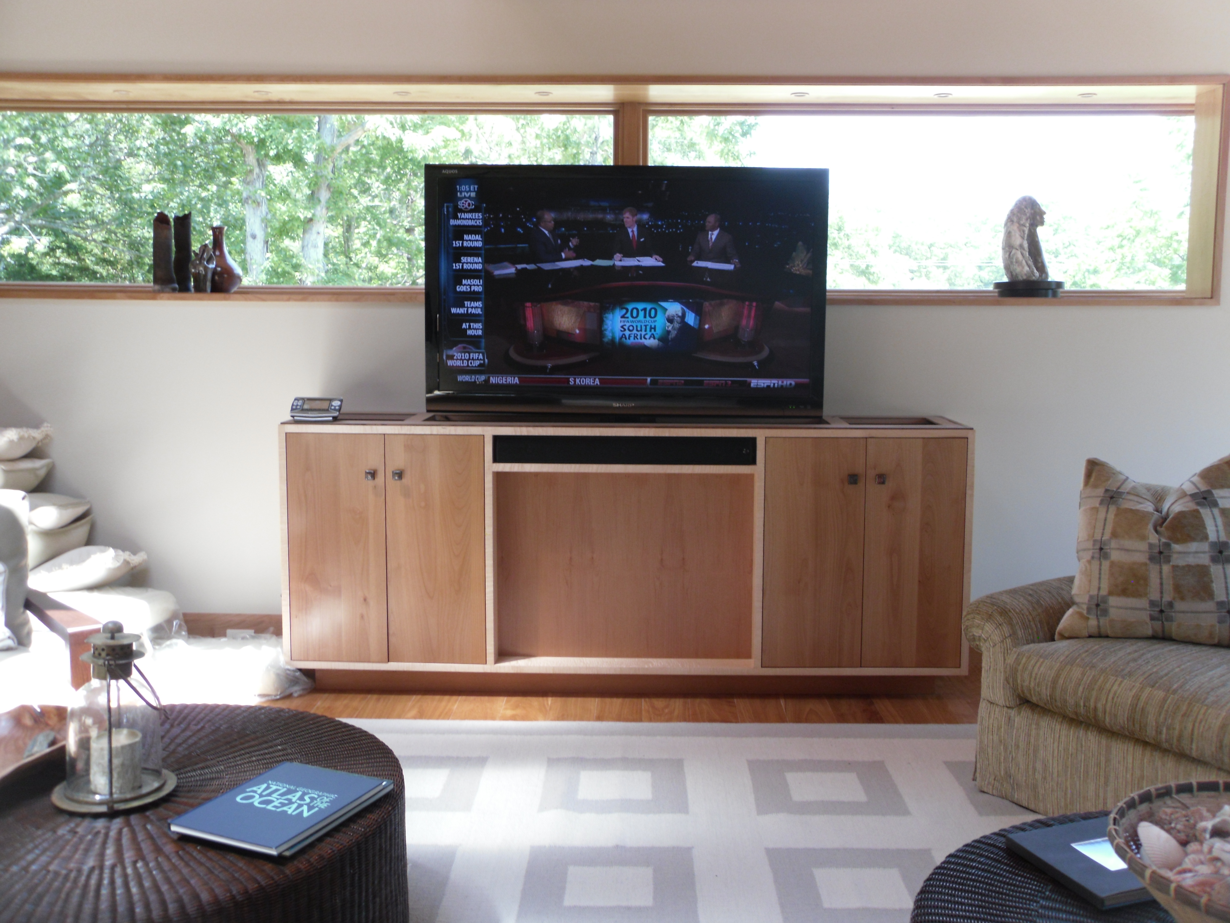 Install a TV Lift Cabinet Cape Cod